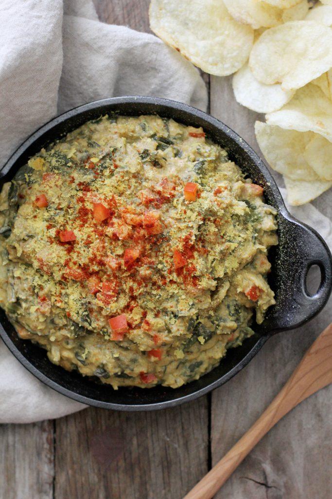 Dairy-free Creamy Spinach Artichoke Dip Recipe