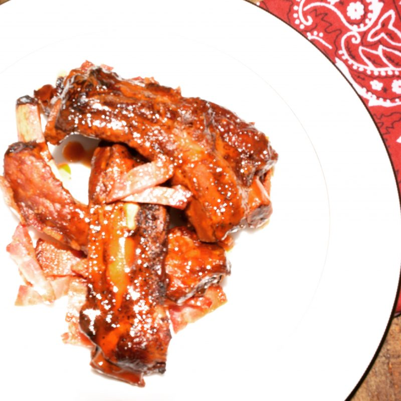 Slow Cooker Apple Bacon Ribs Recipe