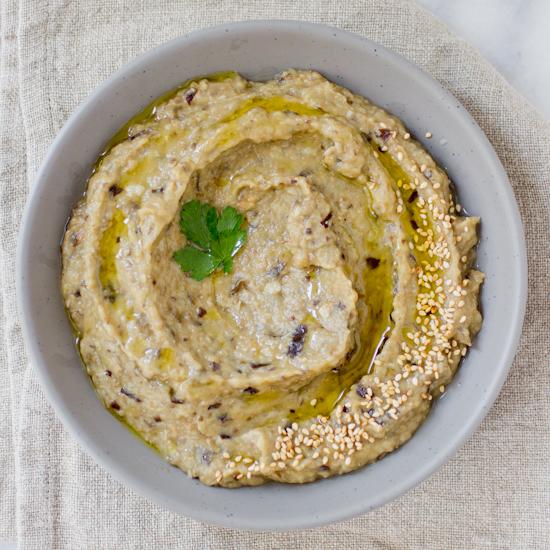Roasted Garlic Babaganoush Recipe