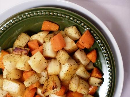 Dill Roasted Carrots & Parsnips Recipe
