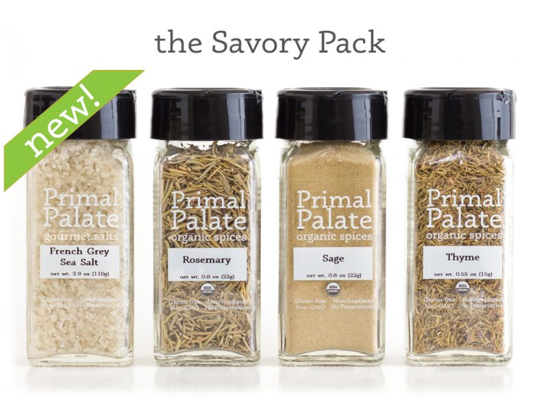 Savory Pack - Primal Palate Organic Spices