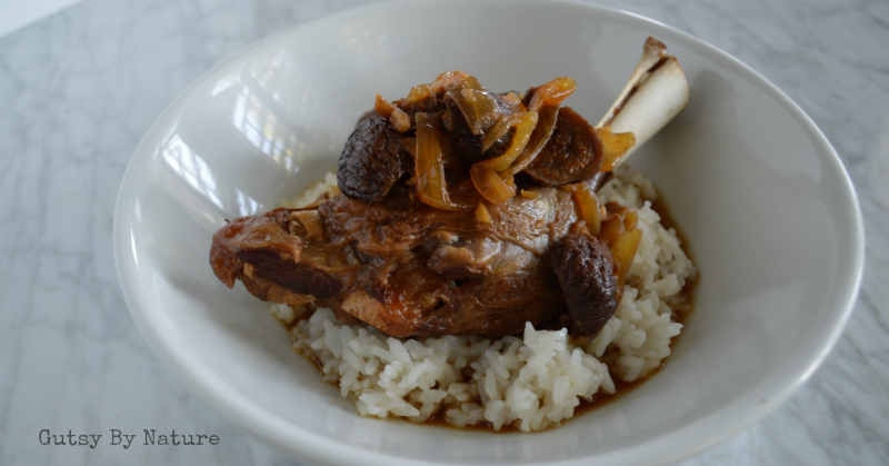 lamb shanks with figs and ginger