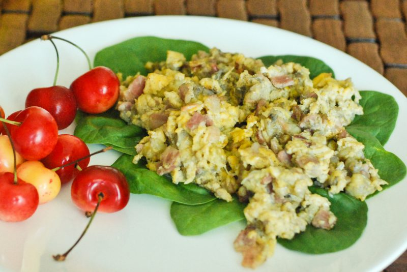 Bacon Banana Scrambled Eggs Recipe