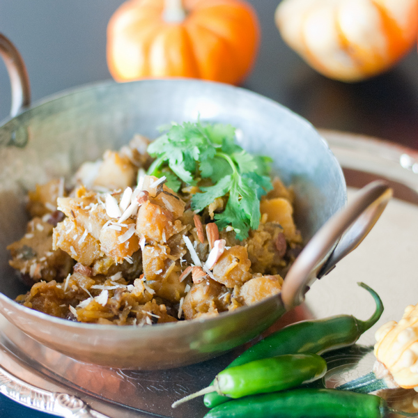 Curried Pumpkin and Apple with Raisins Recipe