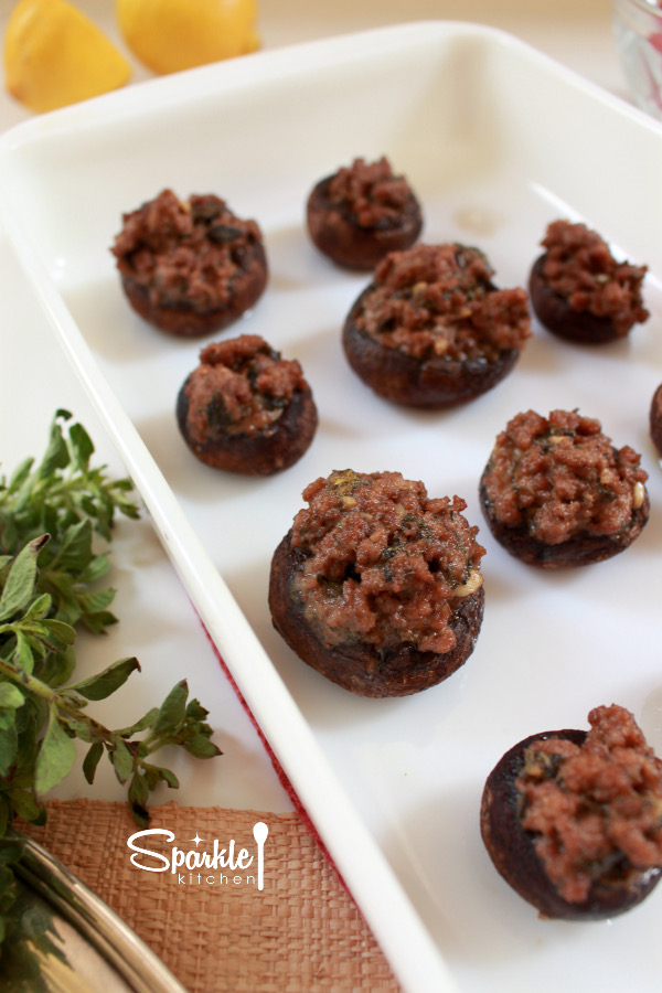Beefy Stuffed Mushrooms Recipe