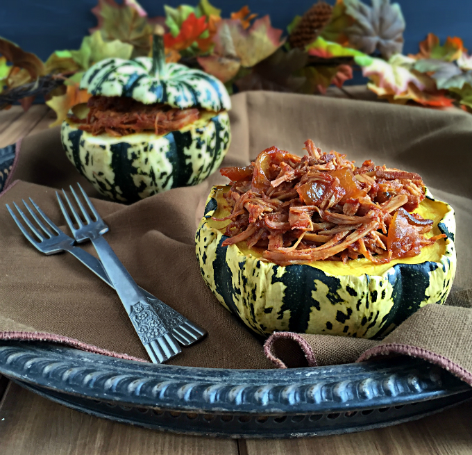Maple Glazed Pulled Pork Stuffed Sweet Dumpling Squash Recipe