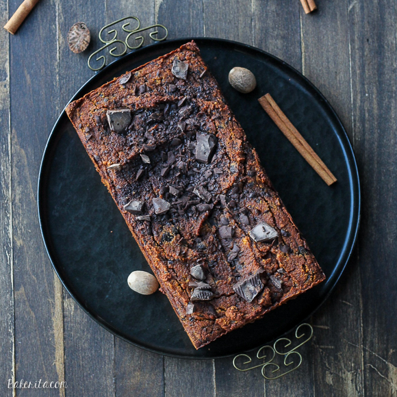 Paleo Chocolate Chunk Pumpkin Bread Square