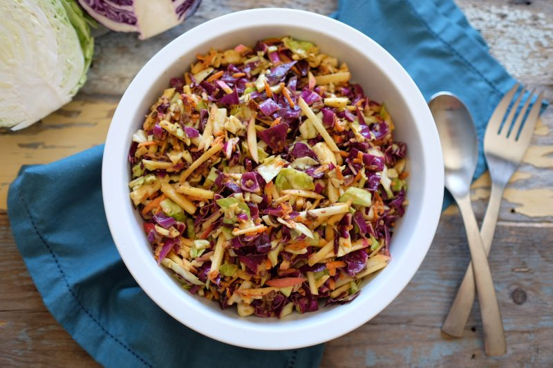 Coleslaw with Apples and Bacon Recipe
