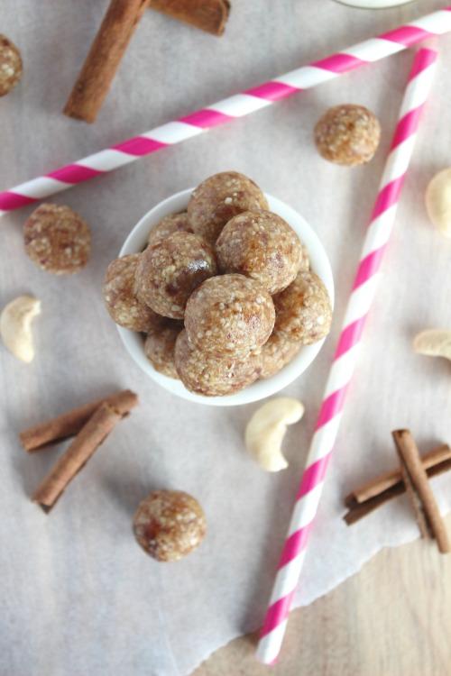 Healthy, No-Bake Snickerdoodle Energy Bites Recipe