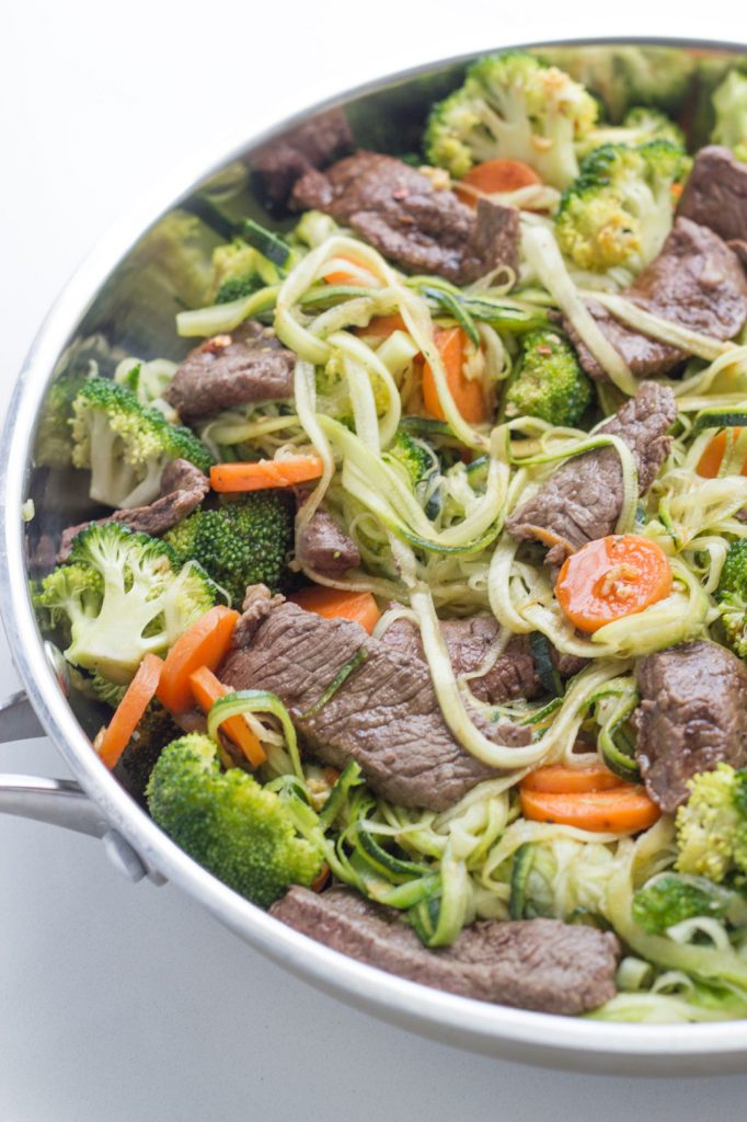 Beef Stir Fry with Zoodles Recipe