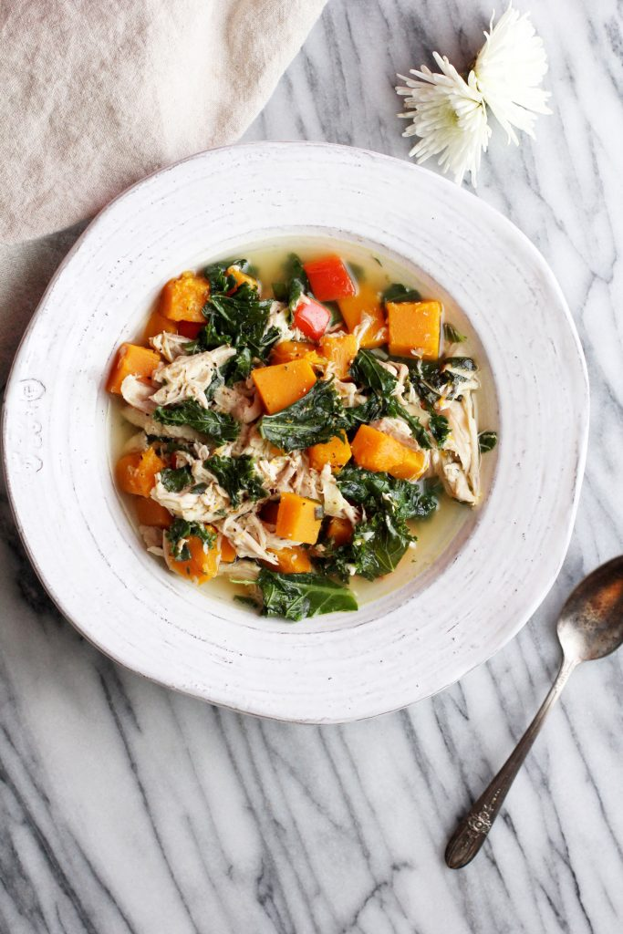 Chicken Kale and Butternut Soup Recipe