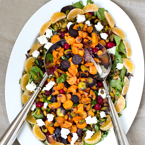 Roasted Carrot Salad with Honey Mustard Vinaigrette Recipe