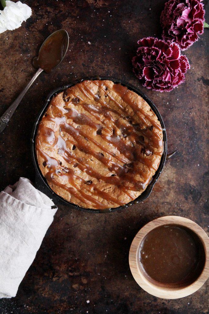 Flourless Chocolate Chip Cookie Skillet Recipe