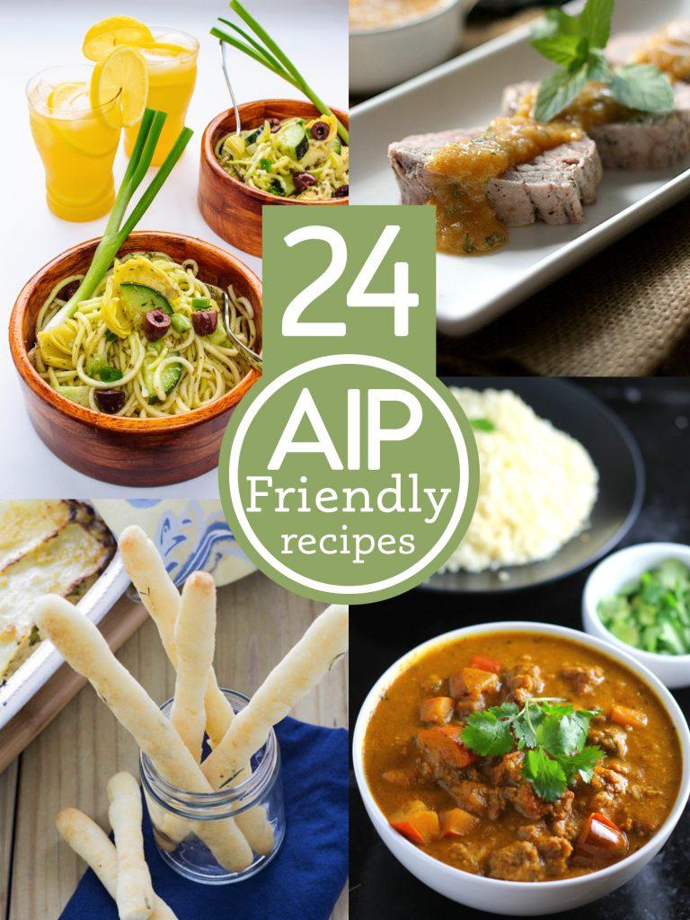 24 AIP friendly recipes