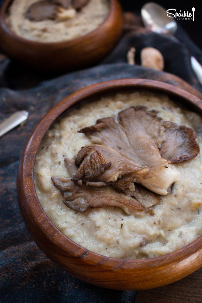 Roasted Parsnip Soup with Oyster Mushrooms Recipe