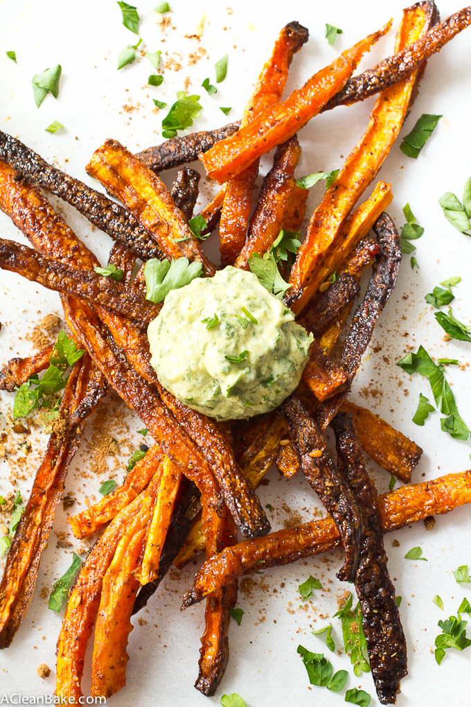 Baked Shoestring Carrot Fries Recipe