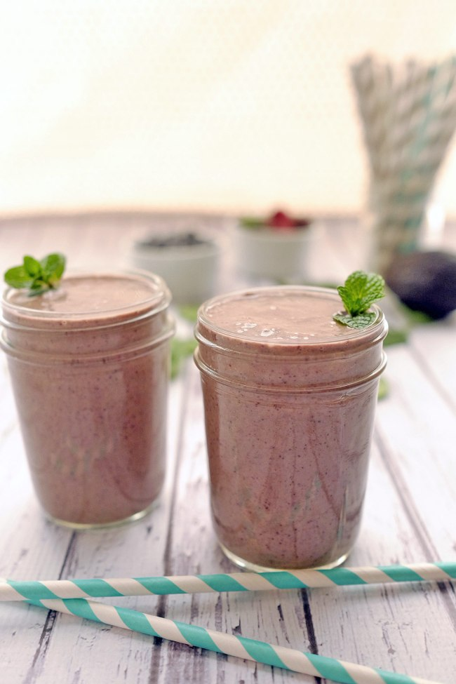 Mint Berry Breakfast Smoothie Recipe