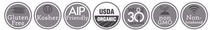 Primal Palate Organic Spices - Quality logos with AIP