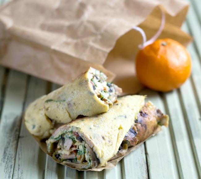 Omelette Breakfast Roll Recipe