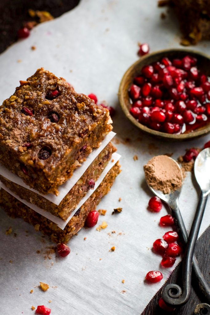 Gluten Free Chocolate Almond Bars with Pomegranate Recipe
