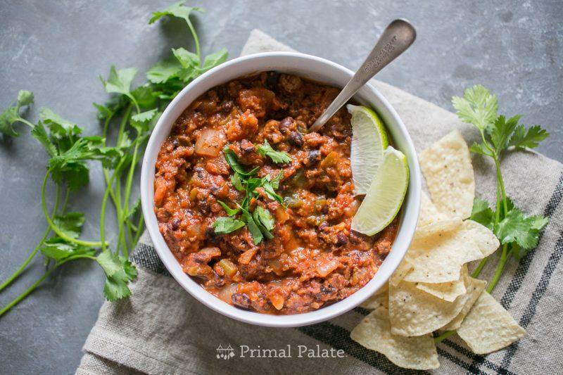 primal palate paleo chili recipe-7