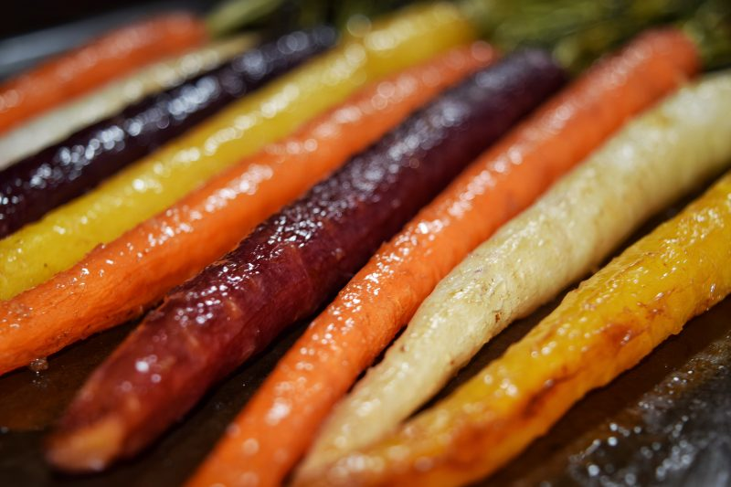 Maple Ginger Glazed Rainbow Carrots Recipe