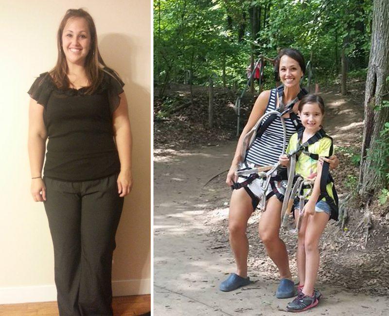 Jennifer before and after Paleo 4