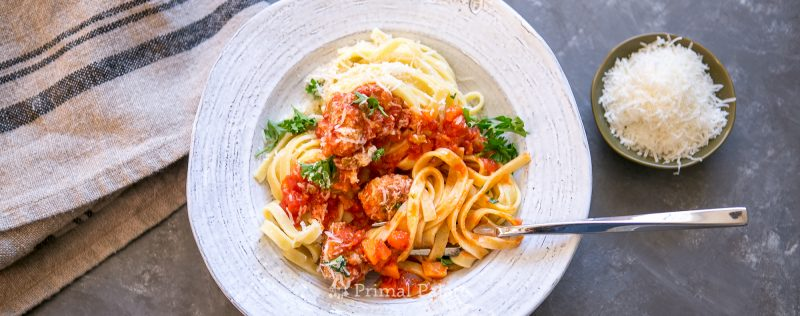 Fettuccine with Meatballs Recipe