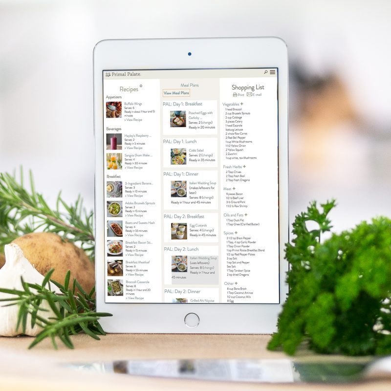 myKitchen Meal Planner iPad Pic