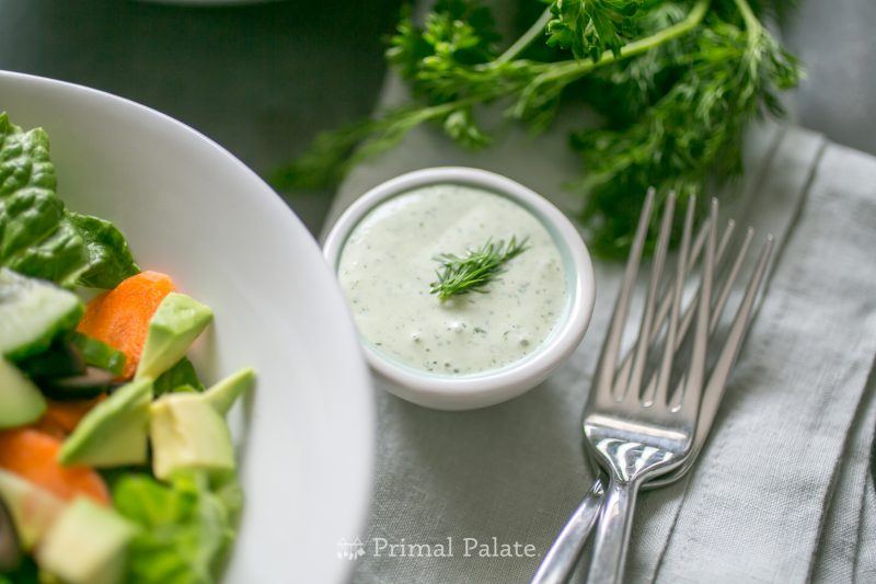 Garden Ranch Dressing (Dairy-free) Recipe