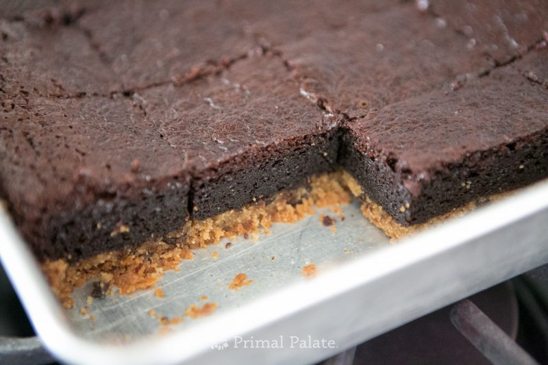 Paleo grain-free chocolate chip cookie brownies by Primal Palate and Cappellos-5