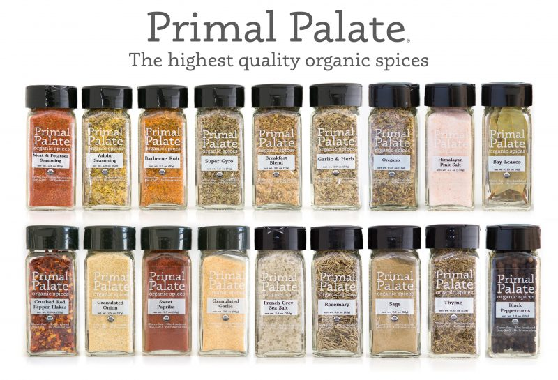 Primal Palate Organic Spices - Spring 2016 wide view