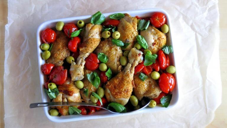 Cherry Tomato Pressure Cooker Chicken Cacciatore Recipe