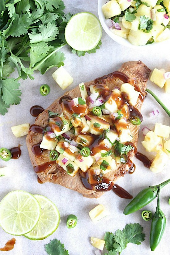Healthy Homemade Teriyaki Chicken with Sweet and Spicy Pineapple-Jalapeno' Salsa Recipe