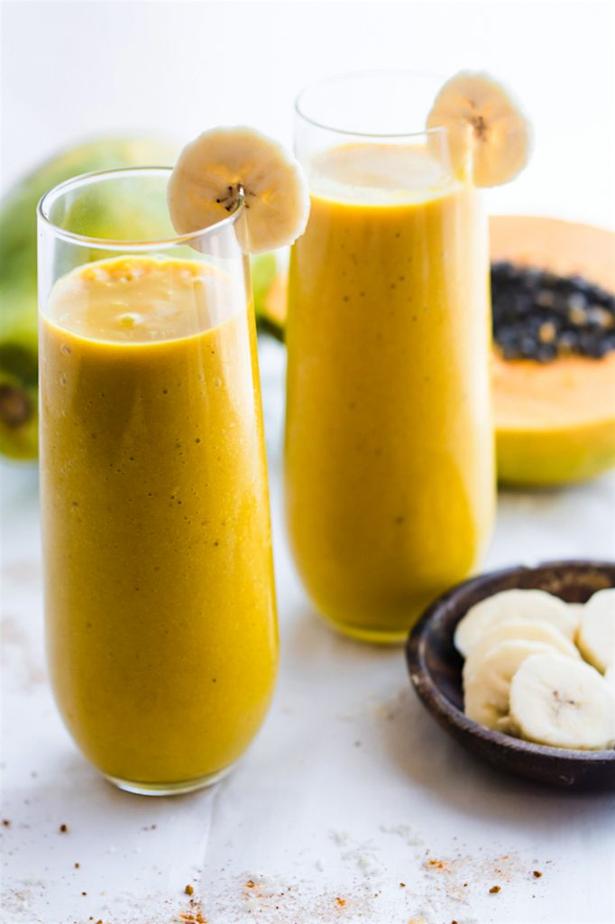 TROPICAL TURMERIC GOLDEN MILK VEGAN SMOOTHIE Recipe