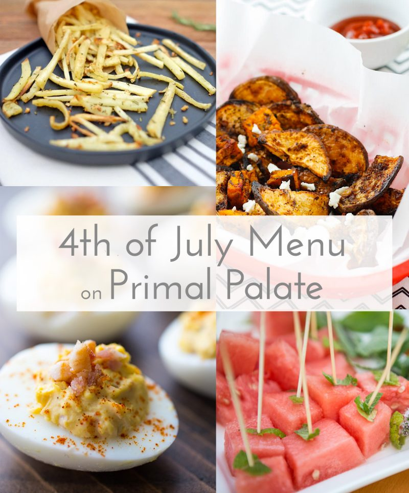 4 July Menu Paleo