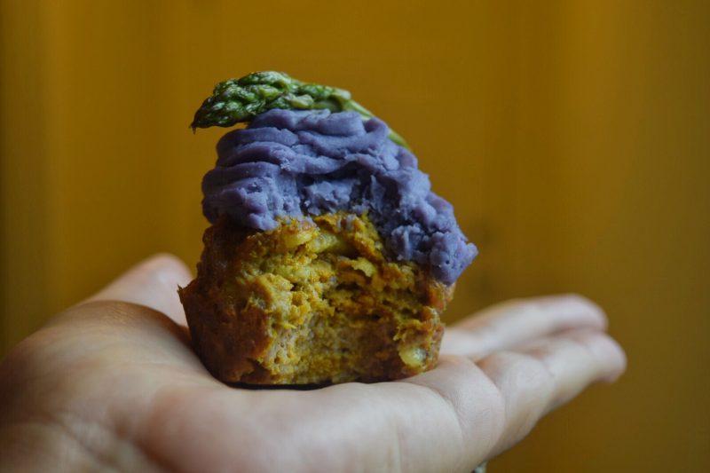 Curried Turkey & Sweet Potato Cupcake Recipe