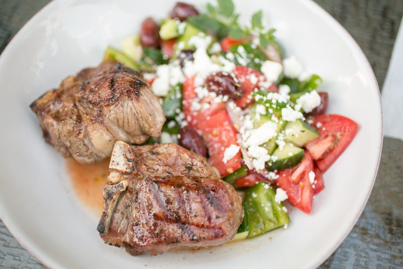 Greek Salad with Lamb Chops - Primal Palate Super Gyro-8