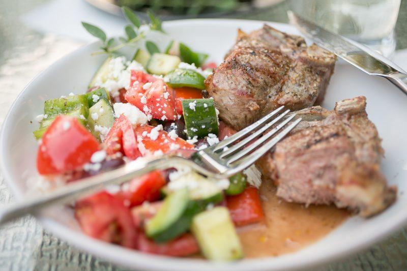 Greek Salad with Lamb Chops - Primal Palate Super Gyro-9