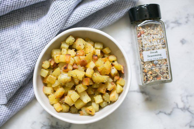 Breakfast Sweet Potatoes with Steak Seasoning Recipe