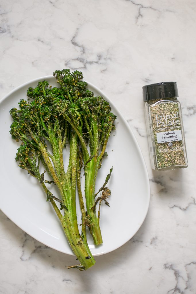 Grilled Broccolini with Seafood Seasoning Recipe