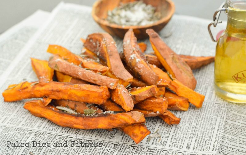 Sweet Potato Fries with Rosemary Salt Recipe