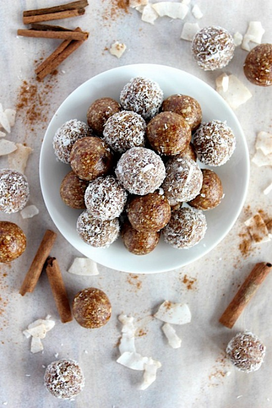 Salted Caramel Chai Spiced Bliss Bites Recipe