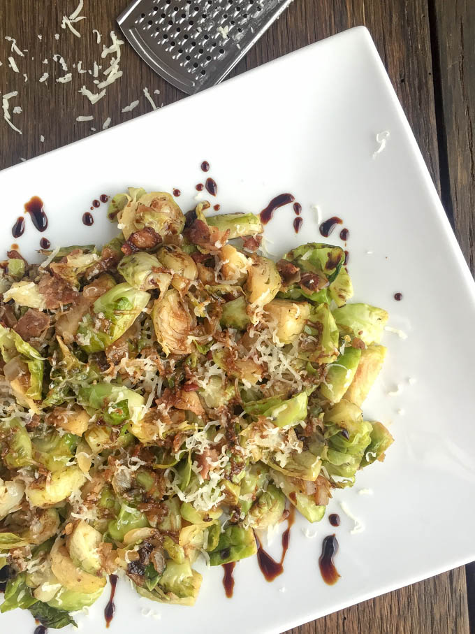 Bacon Balsamic Brussel Sprouts Recipe