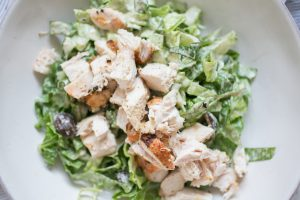 Grilled Chicken Caesar Salad with Anchovy-less Dressing