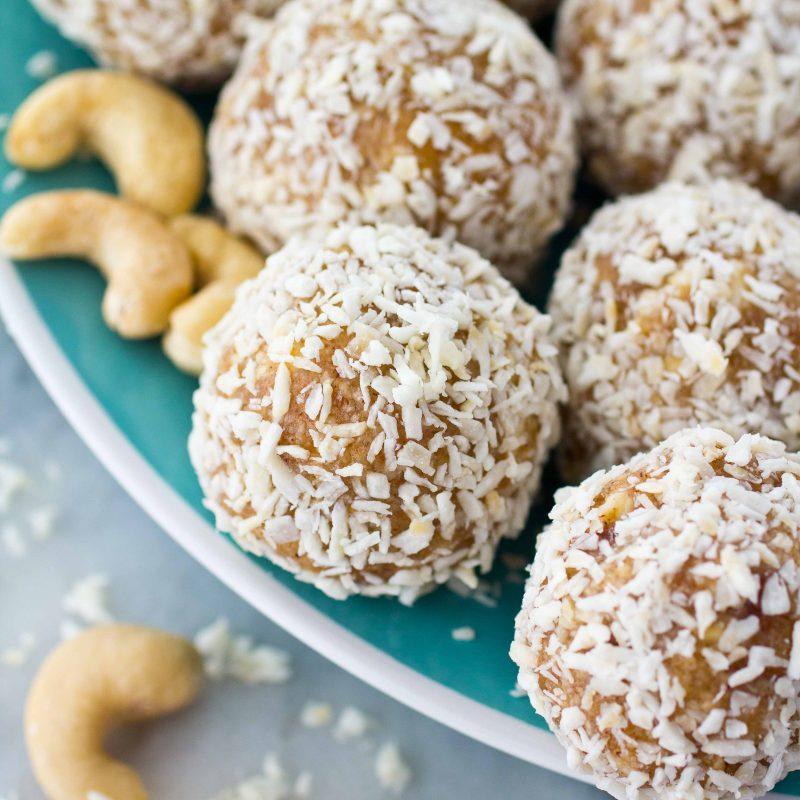 Coconut Cashew Energy Balls Recipe