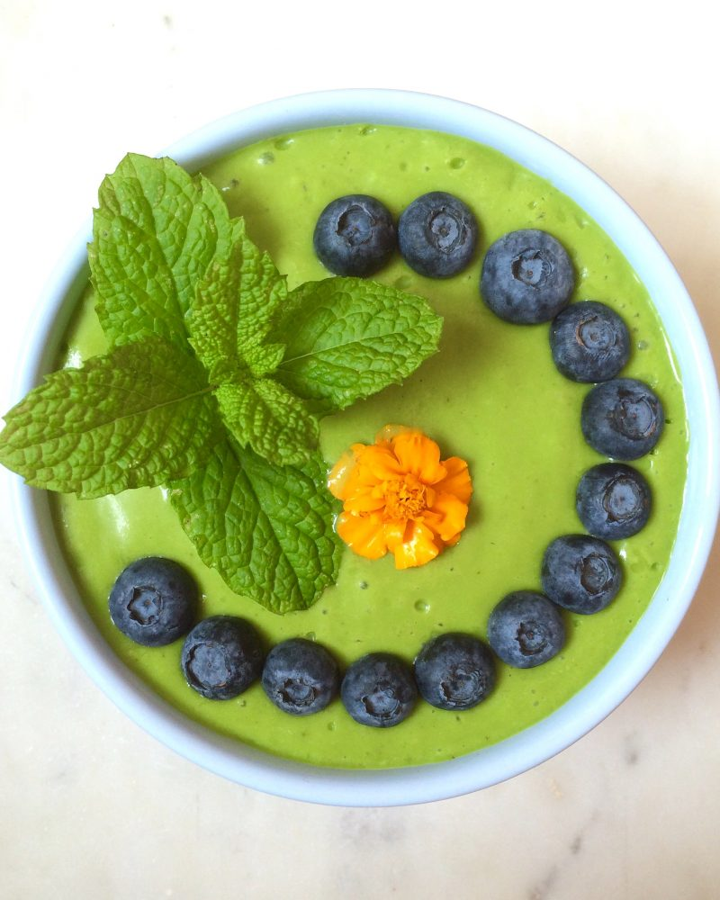 Coconut Green Smoothie Bowl Recipe