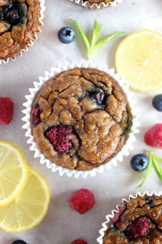 Deliciously Ugly Lemon Berry Muffins Recipe