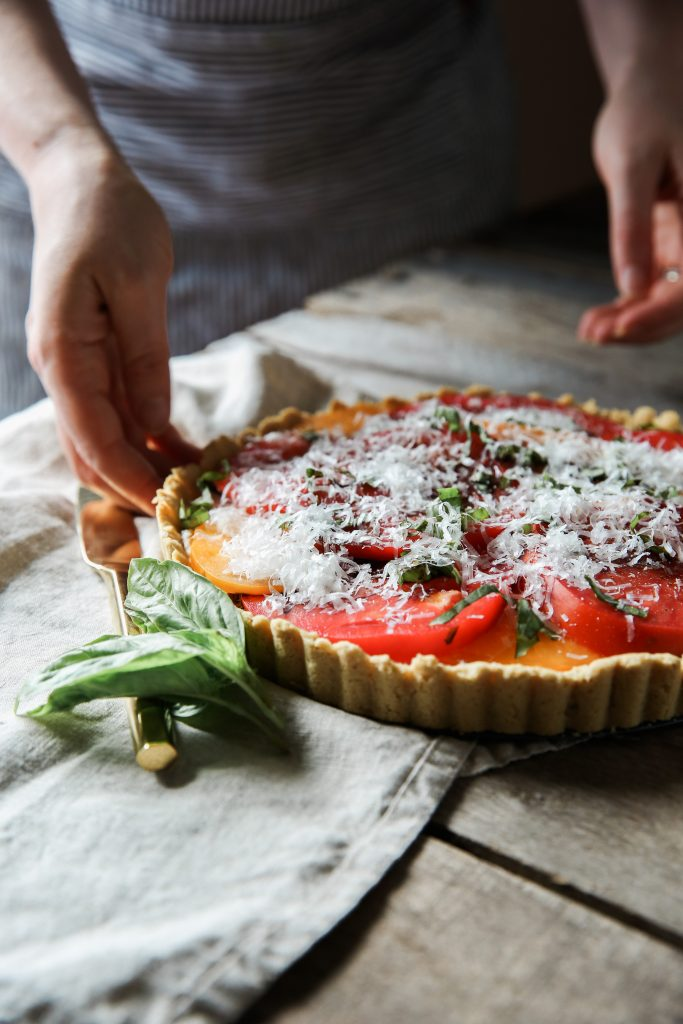 Gluten-free Goat Cheese and Tomato Tart Recipe