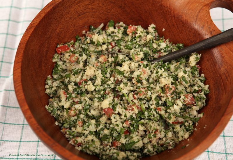 Cauliflower Tabbouleh (Grain Free) Recipe